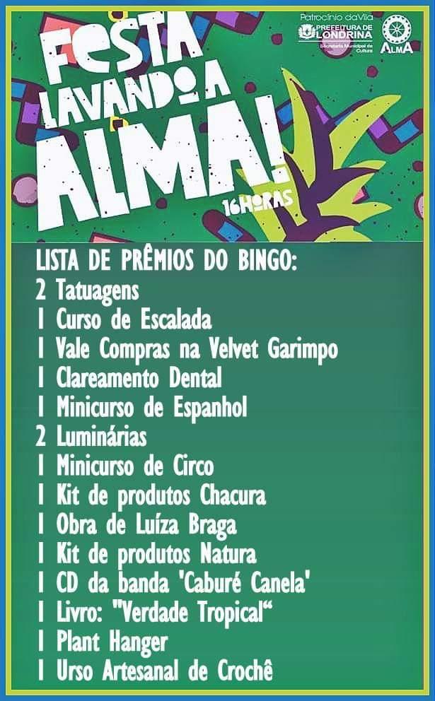 Prêmios do bingo