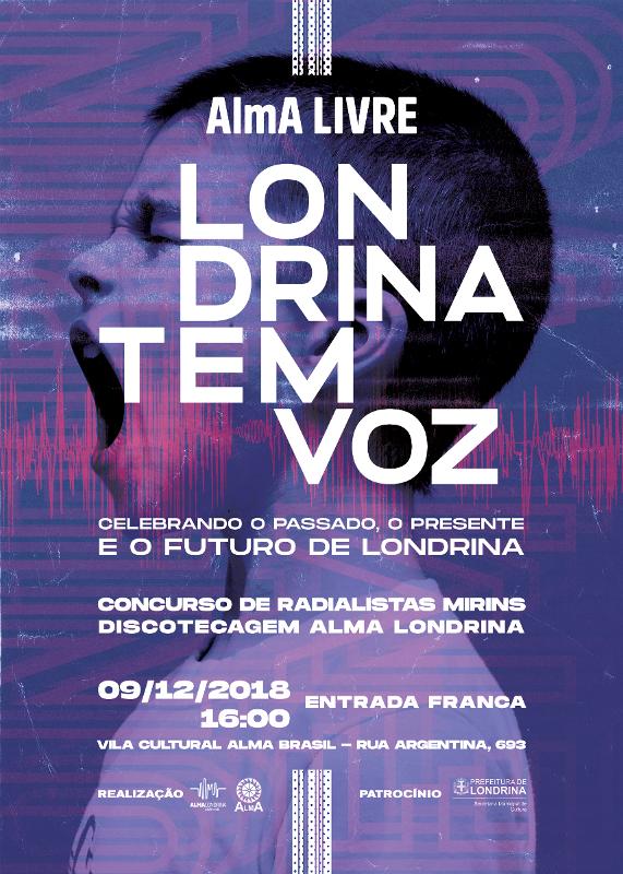 Cartaz AlmA Livre - Londrina tem Voz