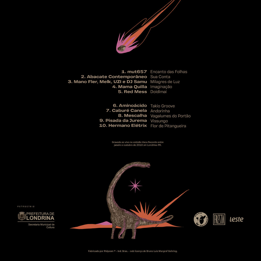 Coletânea Basalto LP bandas de Londrina